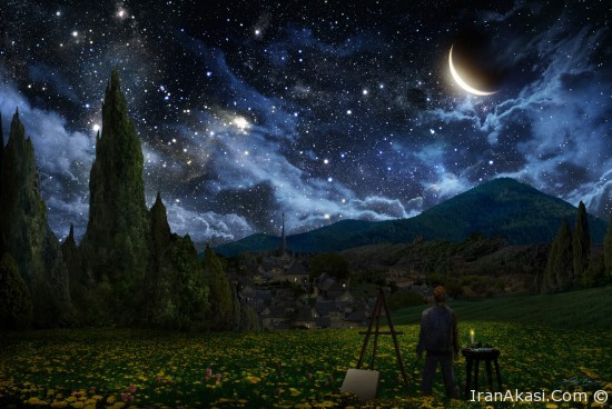 Photo of شب پر ستاره ونگوگ (نقاشی یا واقعی)